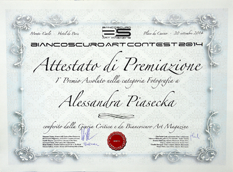 Alessandra wins Biancoscuro's art contest
