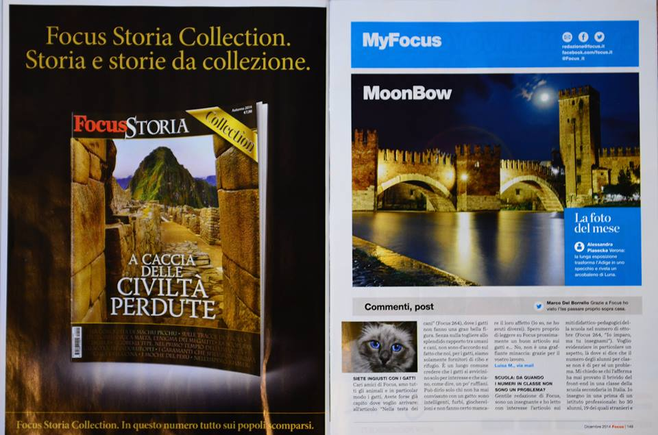Focus publishes Alessandra's Moonbow article